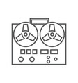 Retro tape recorder icon