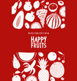 scandinavian hand drawn fruit design template vector image vector image