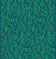 seamless flat pattern with branches leaves and vector image vector image