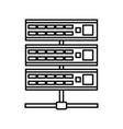 Servers icon outline style vector image vector image
