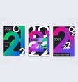 set happy new year 2021 posters minimalist vector image vector image