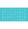 set line icons india vector image