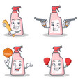 set of cleaner character with baseball cowboy vector image vector image