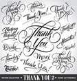 Set of custom THANK YOU hand lettering vector image vector image