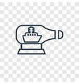 ship in a bottle concept linear icon isolated on vector image