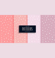 sparkling star cute patterns set in four shades vector image