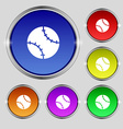Tennis ball icon sign Round symbol on bright vector image vector image