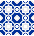 tile indigo blue decorative floor tiles pattern vector image vector image