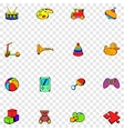 Toys set icons vector image vector image