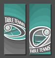 vertical banners for table tennis vector image vector image