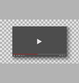 video player interface mockup template for web vector image