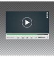 Video Player mockup vector image