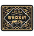 vintage label suitable for whiskey or other vector image vector image