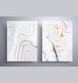 wedding invitation with marble pattern vector image vector image