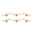 wooden seesaw kids swing teeter totter vector image
