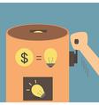 Idea vending machine vector image