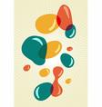 Retro style colors bubbles vector image