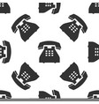 telephone icon seamless pattern landline phone vector image
