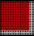 openwork red tablecloth with a white border vector image