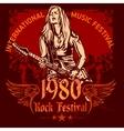 Rock concert poster - 1980s vector image