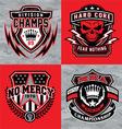 Sports shield emblem graphic set