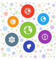 7 geography icons vector image vector image
