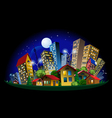 abstract city at night vector image