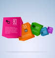 Abstract info graphic with colorful cubes vector image vector image