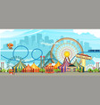 amusement park circus vector image vector image