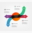 arrows infographics step step element chart vector image
