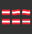 austria flag set official colors and proportion vector image vector image