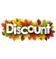 Autumn discount background with leaves
