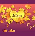 autumn timeseasonal lettering on paper cut golden vector image