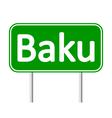 Baku road sign vector image
