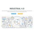 banner industrial 40 vector image