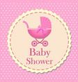 bashower card for girl invitation bashower vector image vector image