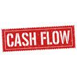 cash flow sign or stamp vector image vector image