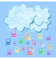 Cloud Computing Mobile Concept Background vector image