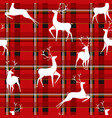 deers on background christmas cell seamless vector image vector image