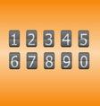 Digital flip numbers on orange background vector image