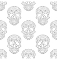 entangle stylized skull for halloween seamless vector image