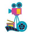 film cinema design vector image vector image