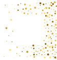 frame gold stars on a white background vector image
