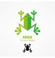 frog icon vector image vector image