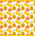 fruit pattern with coloring lemons pineapples vector image