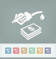 fuel expense icon vector image vector image