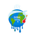 global warming concept earth planet environment vector image