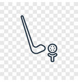 golf concept linear icon isolated on transparent vector image
