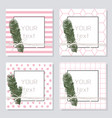 greeting template card set invite pine vector image vector image
