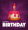 happy berthday greeting card with image of vector image